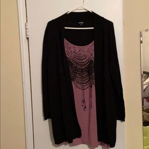 Apt 9 Cardigan with shirt attached